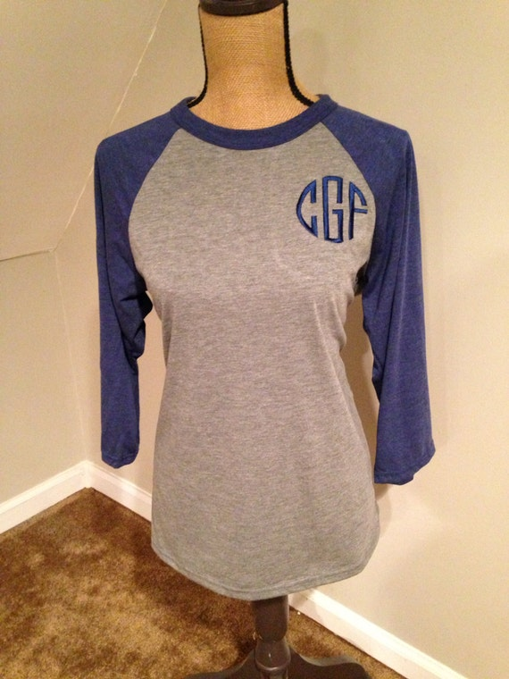 Monogrammed Baseball Tee Personalized Monogrammed T-shirts