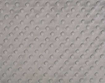 Cuddle Dimple Minky Fabric by Shannon Fabrics - 1/2 yard- Silver, Navy,  or Black