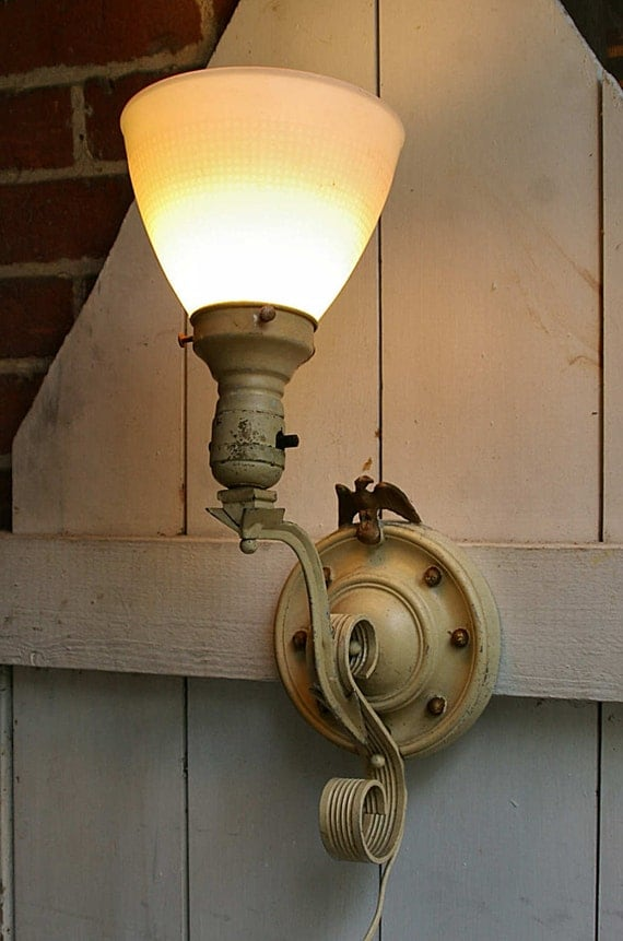 Colonial Electric Wall Sconces : Electric Wall Sconce Light Plug In Wall Sconce by KickassStyle