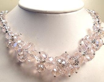 "SALE Pink Glass Beaded 23"" Necklace"