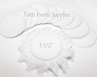 White Felt Circle - Adhesive Felt Circle - Felt Circles - Pack of 10 White Felt Cirles