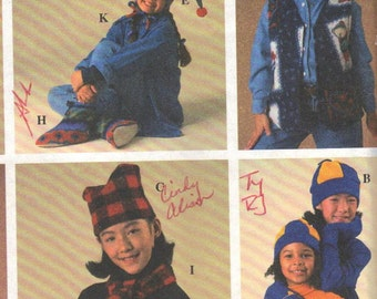 7363 Simplicity Sewing Pattern Jacket HATS Scarf MITTENS Booties UNCUT