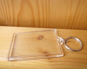 4 DIY Photo Keyring Rectangle, Party Craft Supplies, artclasses, Plastic Key Chain, Key Holder, Kids Crafts Idea, ShineKidsCrafts