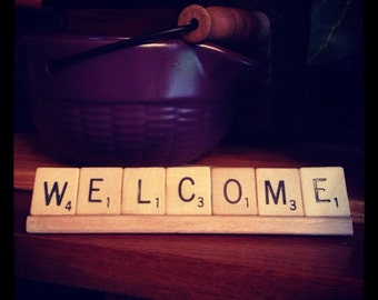 WELCOME Sign, Home Decor, Office Decor, Business Sign, Front desk, Welcome, Housewarming Gift,