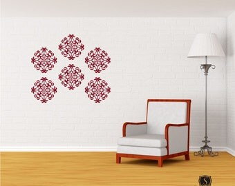 Medallion Wall Pattern Decal (1) - Vinyl Stickers Art