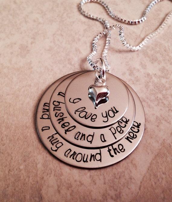 I Love You A Bushel And A Peck Necklace: I Love You A Bushel And A Peck And A Hug By WhirlyBirdDesigns