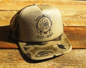 Vintage Zig Zag Rolling Papers Snapback Mesh Hat