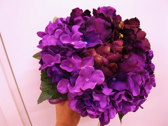 Artificial Tulip Wedding Bouquets : Artificial flower tulip hydrangea wedding bouquet by iolee
