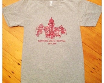 Danvers State Hospital, insane asylum, screen printed psychology gift