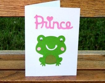 Prince Charming Frog Blank Card