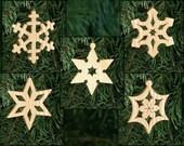 Snowflakes Christmas Ornament Set - Christmas Snow, Winter Snow, White Christmas, Let it Snow, Winter Wonderland