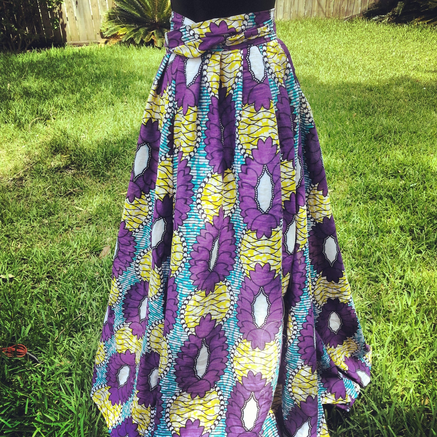 African Print Maxi Wrap Skirt And Dress By Onyiiandco On Etsy