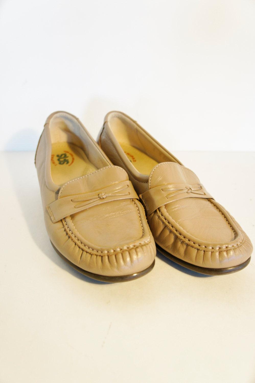 sas khaki slip on dress loafers tripad comfort 8 med