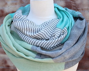Infinity Fashion scarf  loop scarf