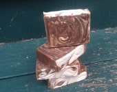 Choco caramel latte scented coffee based cold process soap