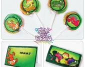 Print Your Fiesta digital party set - Reptile Party Kit - chamaleon, lizard, snake, turtle, frog, crocodile
