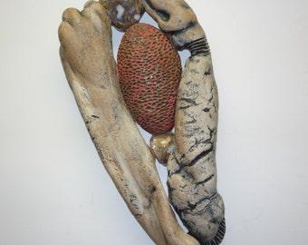 Ceramic Wall Sculpture--Organic Series