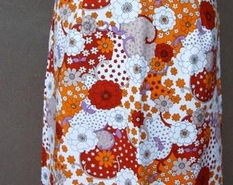 1970s floral aline skirt