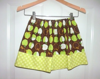 apple skirt green apple skirt girls skirt girl fall skirt toddler skirt baby infant skirt summer skirt spring skirt back to school