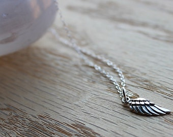 Sterling Silver Wing Charm Necklace