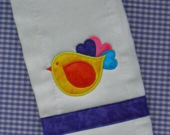 Sweet Bird Burp Cloth