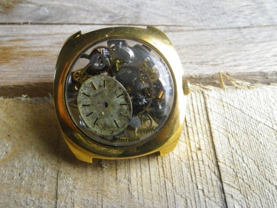 Items Similar To Sale A50 Steampunk Antique Watch Parts