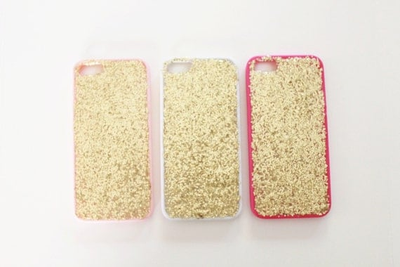 Iphone 5s Gold Glitter Case Gold Glitter Iphone 5/5s Case