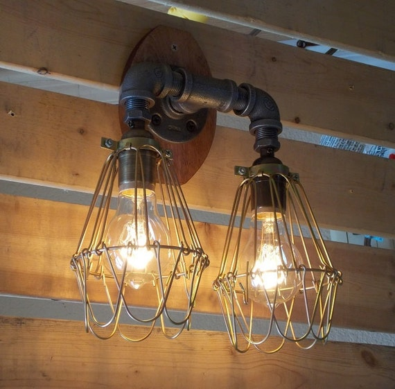 Items similar to Industrial Vanity Light on Etsy