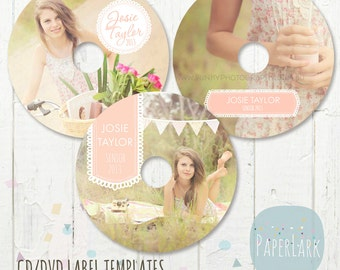 CD/dvd label photoshop templates - EB008 - INSTANT Download