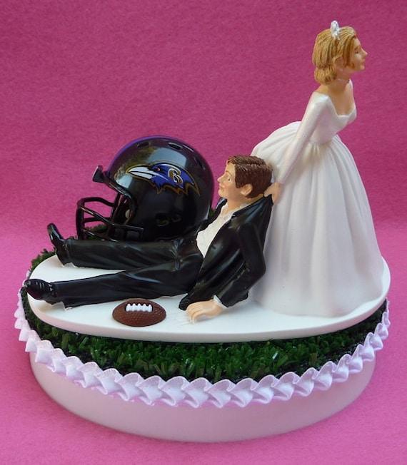 wedding cake topper baltimore ravens football themed sports