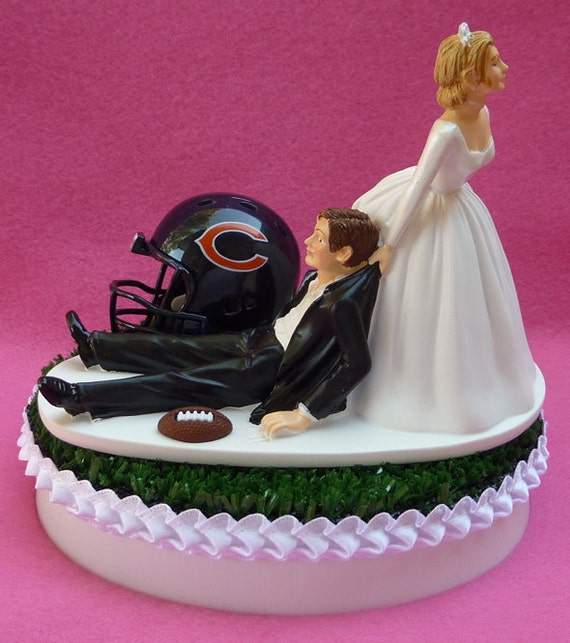 wedding cake chicago il wedding cake topper chicago bears football themed sports turf 22191