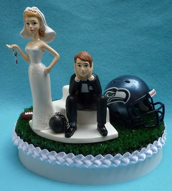 wedding cake seattle wedding cake topper seattle seahawks football themed and 24246