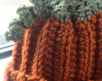 SALE!!!!! - Pumpkin Hat for Newborn to 3 months old - Ready to Ship