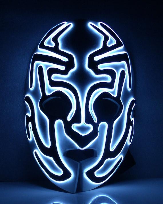 Items similar to Foam Alien Glow El wire light up mask on Etsy