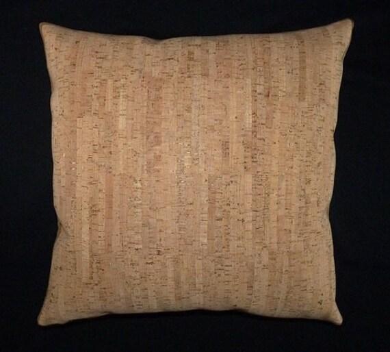 Maia Modern Pillows : Cork pillow Modern style Accent throw Pillow 17 x