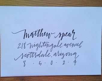 Wedding Invitation Calligraphy - Handmade Envelope Addressing