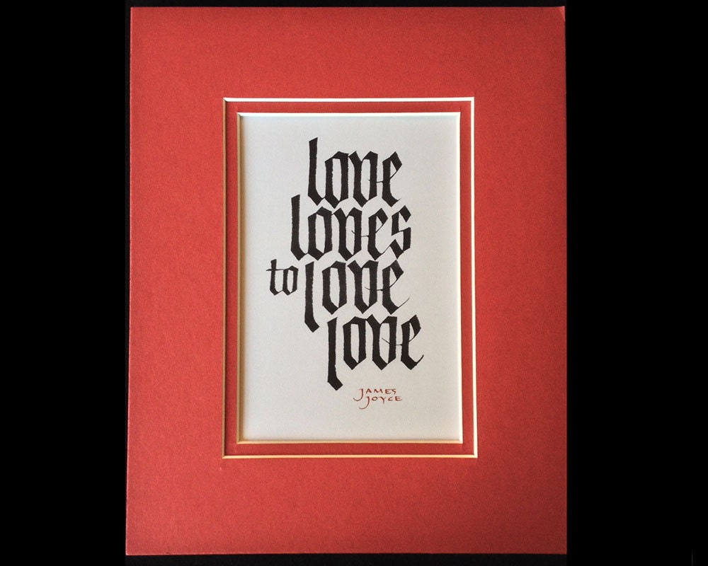James joyce quotation calligraphy print by larryorlandodesign