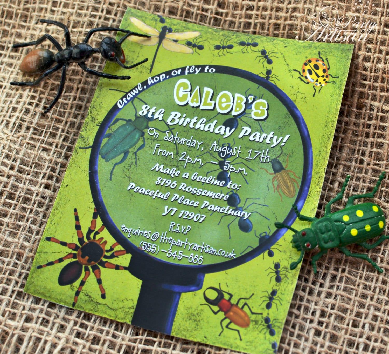 Boy Bug Party Invitations Printable