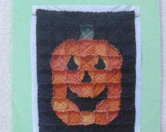 Raggedy Jack Halloween Pumpkin Rag Quilt Pattern Easy