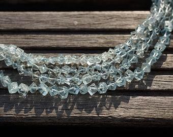 Aquamarine 3-4mm cube beads (ETB00700)