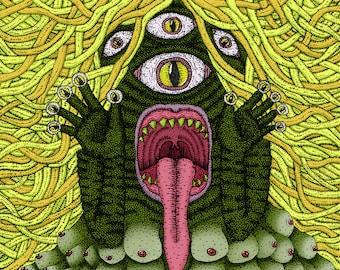 Green Tit Swamp Monster