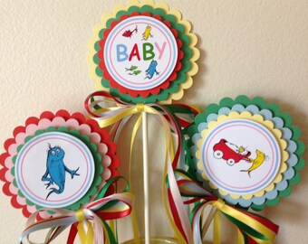 One Fish Two Fish Baby Shower Centerpiece - Set of 3