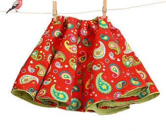 Girls skirt pattern pdf - reversible skirt ebook tutorial - sizes 6m to 9 years