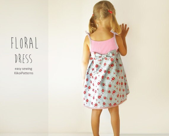 Floral girls DRESS sewing pattern