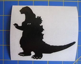 Godzilla 1950's Decal/Sticker 3.5X4