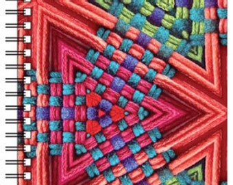 Journal with woven art - spiral bound 50 pages