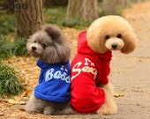 100% Cotton Hooded sports wear pet clothing VIP dog clothes Pet clothes autumn winter