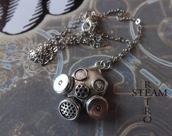 Cyberpunk Necklace - Steampunk Jewelry by Steamretro - Christmas gift - steampunk necklace - steampunk - gothic - gothic necklace - emo