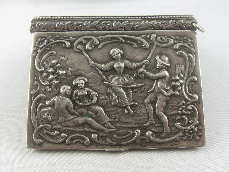 original art nouveau magic box with a playful motif of silver. Black Bedroom Furniture Sets. Home Design Ideas