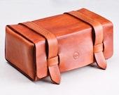 Leather Handmade travel Dopp Kit / Toiletry Case/ Toiletry Bag / Shaving Bag
